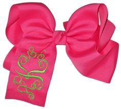 Hair Bows - Extra Large Monogrammed Hair Bow