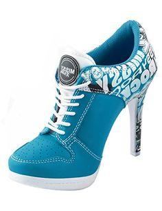 Sport High Heels STREET ROCKZ electric blue, Farbe:electric blue, Größe:35