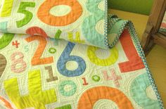 playful numbers quilt