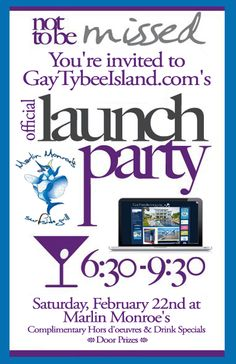 You're invited to GayTybeeIsland.com's Official Launch Party!  http://mermaidcottages.com