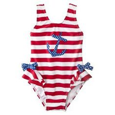 Infant Swim Suit - Red White and Blue