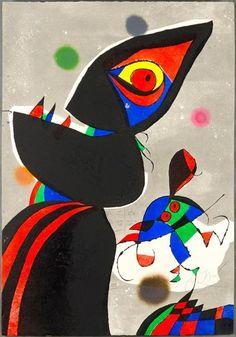 """""""Eh eh, mon gars"""", semble dire cette gravure de Joan Miró en hommage à Gaudi en 1979. Bravo les Catalans !"""