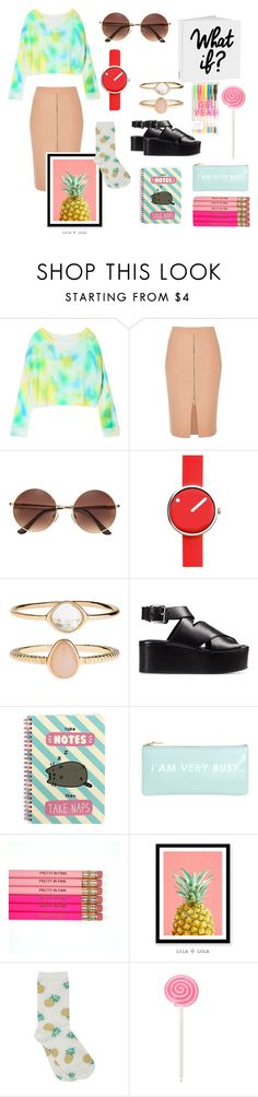 """XOX"" by enge-abdrashitova on Polyvore featuring мода, River Island, Rosendahl, Accessorize, Alexander Wang, Pusheen, ban.do, WALL и M&Co"