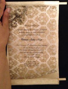 Scroll Invitations Handmade by RoyalPalaceInvites on Etsy
