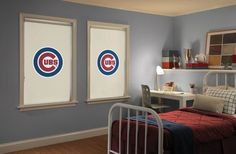 "How fun is this? Your little (or big) fan will love these Major League Baseball and College Collection (100+ schools!) themed rollershades. This is the perfect window treatment for your sports enthusiasts bedroom or ""man/woman cave""!!"