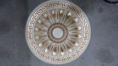 Rosone artistico in gesso greca indorato