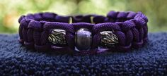 Purple Beaded Paracord Bracelet  Size 7.5 by RainyDayzArt on Etsy, $12.50 https://www.etsy.com/listing/190912302/purple-beaded-paracord-bracelet-size-75?ref=shop_home_active_6