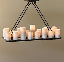 Pillar Candle Chandelier From Restoration Hardware