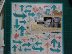 Arrow Scrapbook Layout made with the Silhouette CAMEO