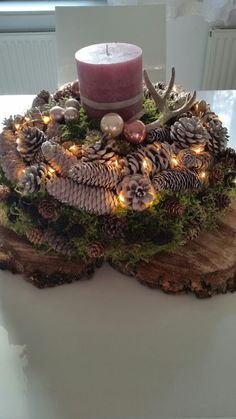 Homemade 1 Homemade 1 The post Homemade . - Homemade 1 Homemade 1 The post Homemade 1 appeared first on B - Christmas Tablescapes, Christmas Centerpieces, Diy Christmas Ornaments, Rustic Christmas, Xmas Decorations, Christmas Home, Christmas Wreaths, Art Floral Noel, Diy Garden Table