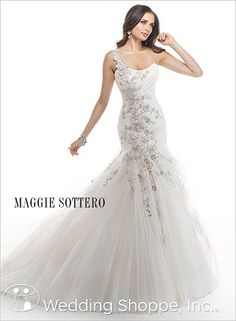 Maggie Sottero Joleen  One shoulder wedding dress!