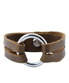 Look what I found on #zulily! Henri Lou Cool Café Leather & Silvertone Mini Henri Bracelet by Henri Lou #zulilyfinds