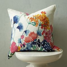 Saw this pillow in person today. Didn't buy it, so, of course, I'm obsessed with it now.  Fiesta Floral Pillow Cover #WestElm