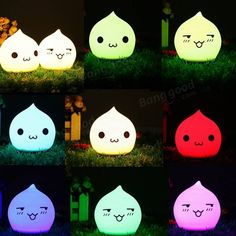 Battery Powered Colorful Waterdrop Silicone LED Night Light for Kid Bedroom Decoration Sale - Banggood.com