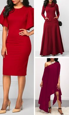 Brighten Your Wardrobe With These Red Dresses From Rotita A Unique Design Add To The Standout Style Of This Beautiful Dresses Shop Red Dress Cheap Red Dresses