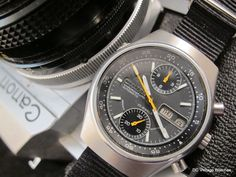NEW DCVW AUCTION: Vintage All-Original 1978 Citizen 8110 Automatic Chronograph, w/Nylon Strap