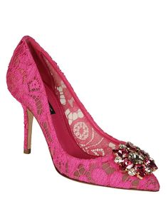 f156250b1992 fashion shoes · Belluci Lace Detailed Pumps from Dolce   Gabbana  Fuchsia  Belluci Lace Detailed Pumps with pointed