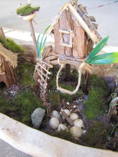 Check out my newest Fairy Garden....for my friend, Lydia, who asked me to make her a little something for her office....  The fairies love i...