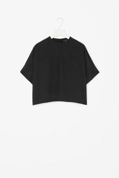 Zip-back silk top