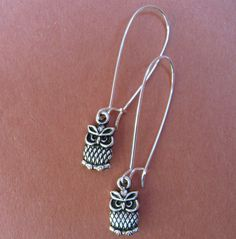 WISE OLD OWLS earrings on French wires. $7.00.  http://www.etsy.com/listing/114465638/wise-old-owls?#
