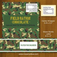 Army Birthday Party Printables - Mr Party Ideas