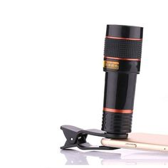e1da0f1d24c Mobile Phone Telephoto Lens Zoom Optical Telescope Camera Lens with Clips  For IPhone