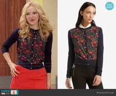 Liv's cherry print cardigan on Liv and Maddie.  Outfit Details: https://wornontv.net/55594/ #LivandMaddie