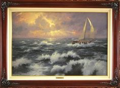 "Thomas Kinkade ""Perseverance"" Life Values Collection I (25""x36"") Gallery Proof Signed & Numbered 1999 Artist of the Year"