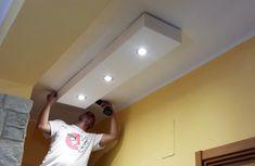 Controsoffitti Sospesi: Come Liberarti del Lampadario Drywall, Ceiling Design, Autocad, Track Lighting, Living Room Decor, Ceiling Lights, Ceilings, Studio, Home Decor