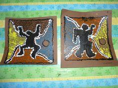 Haring chez les aborigènes - carte de fête des pères MS