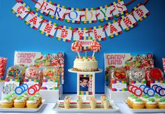 Candyland Birthday - Printable Personalized Banner. $10.00, via Etsy.