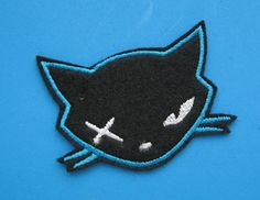 Hey, I found this really awesome Etsy listing at http://www.etsy.com/listing/154597797/iron-on-embroidered-patch-killer-cat-2