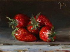 Strawberries A Daily painting by Julian Merrow-Smith