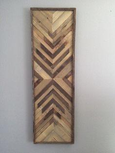 Natural suroeste X recuperado arte de pared de madera