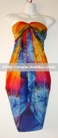 Tropical dress! can work as a mermaid or fish for the girls who want to show less skin