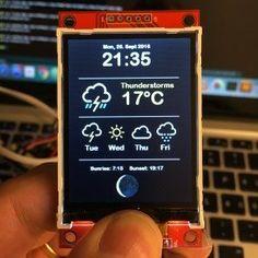 ESP8266 WeatherStation Color