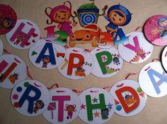 Team Umizoomi Birthday Party Banner & Wall by CreativeLaminations, $39.99