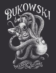 T shirt design for the french band BUKOWSKI in Illustration