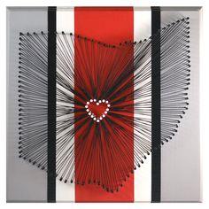 I Heart Columbus String Art - Ohio State Buckeyes Edition. $45.00, via Etsy. <3