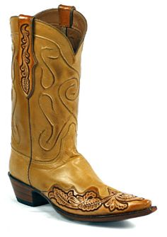 a4d1ce7aad208 Hand-Tooled Leather Boots Style 1439 Custom-Made by Black Jack Boots.  Jacques Lowery · Pointy toe cowboy boots
