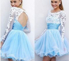 Bg940 Light Blue Homecoming Dress,Tulle Homecoming Dress,Short Homecoming