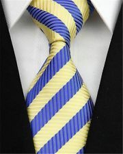 On sale for another 1m at $1.25 is this great Man Business Striped Necktie Men Yellow Blue 100% Silk Formal Party Gift Tie 105. Follow for more great mens fashion neck ties! #mensfashion.
