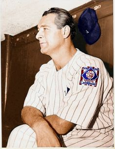 Lou Gehrig - 1939 (colorized by BSmile)