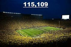Largest NCAA crowd ever!  9/7/13