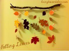 Living Towards Love: Craft Challenge: Falling Leaves