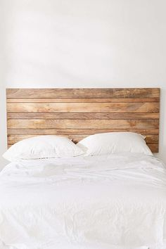 Slide View: 3: Slatted Wooden Headboard