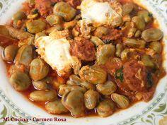 Mi cocina: SOBREHÚSA (o Sobreusa)  DE HABAS FRESCAS CON CHORI...