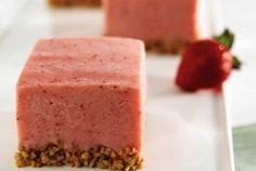 Strawberry Frozen Yogurt Squares | Recipe of the day | Kosher Recipes - Joy of Kosher with Jamie Geller author of the bestselling kosher cookbook - Quick and Kosher