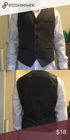 Black vest White shirt sold separately (also in closet) Kenneth Cole Suits & Blazers Vests