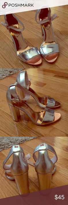 Ted Baker Silver Heels Brand New ! Ted Baker Shoes Heels